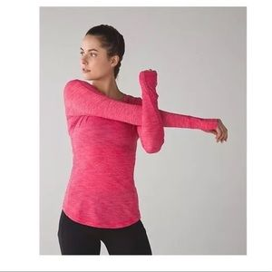 Lululemon 5 Mile Long Sleeve Heathered Boom Juice